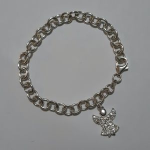 925 silver bracelet with angel charm